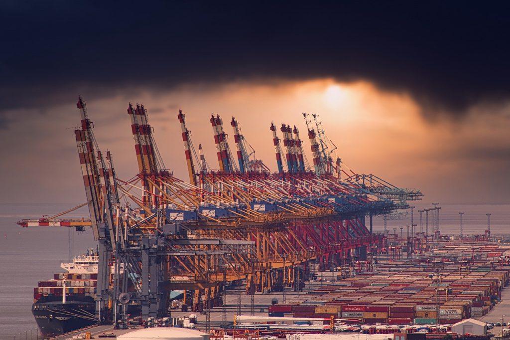 port, crane, container