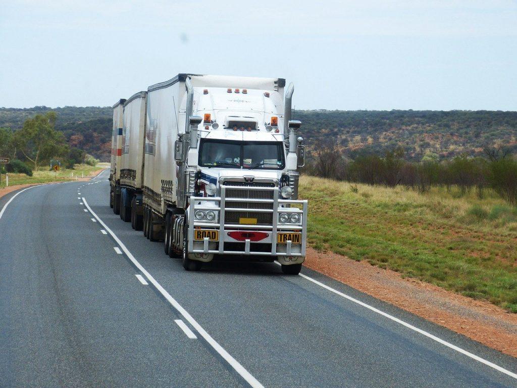 semi trailers, truck, road