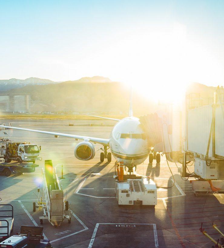 airport, airplane, transportation